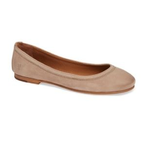 Frye Carson Leather Ballet Flats Taupe